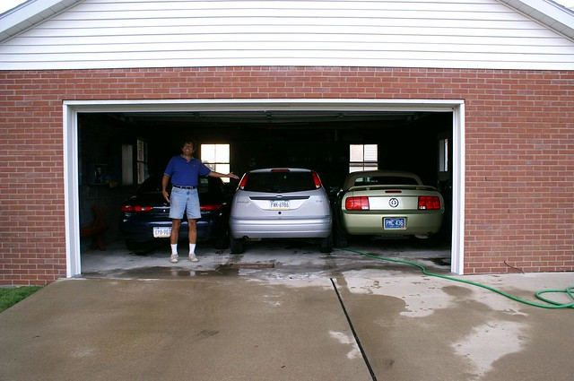 2 5 car garage holding 3 cars flickr photo sharing for 2 5 car garage