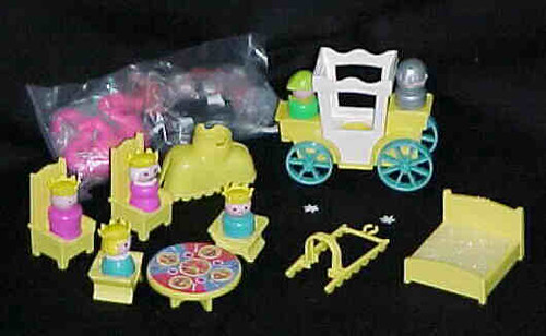 Most of the New Parts for the Old Fisher Price Little People Play Family Castle Set