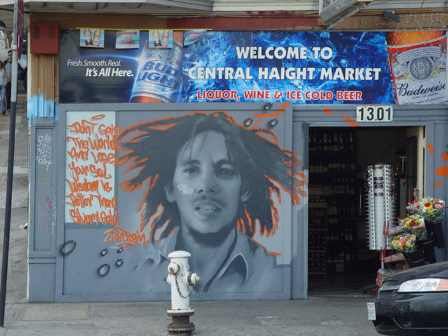 bob marley mural on haight street flickr photo sharing