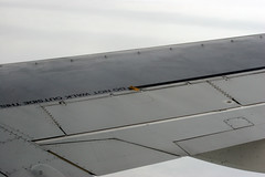Close-up of Boeing 737 wing