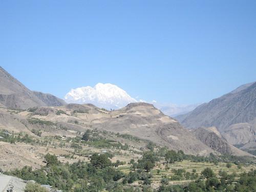 Tirich Mir, taken from the Rumbur road heading back to Ayun