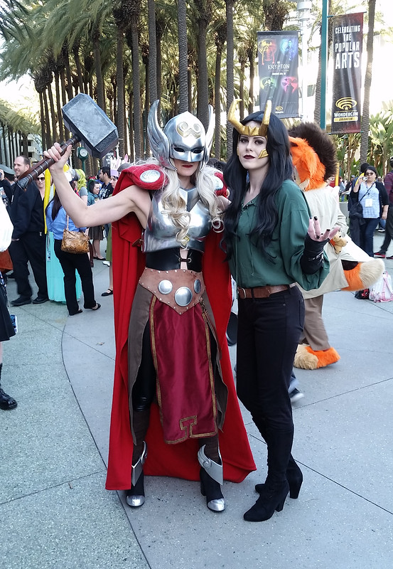 Goddess Thor and Lady Loki