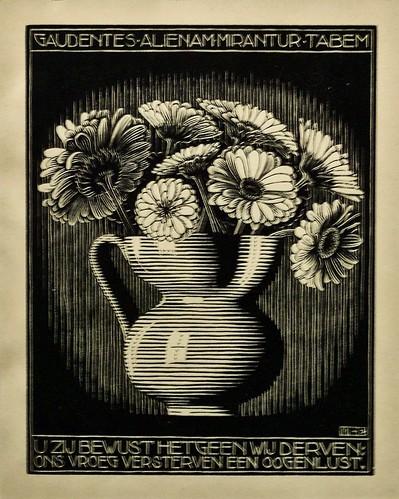 XXIV EMBLEMATA/ I Vase(1932) -  Maurits Cornelis Escher (1898 - 1972)