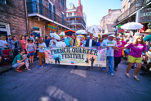 Opening kickoff parade Day 1 of French Quarter Fest - April 12, 2018. Photo by Eli Mergel.