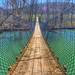 Swinging Bridge over the Wolf River - Sgt Alvin C York State Park by J.L. Ramsaur Photography