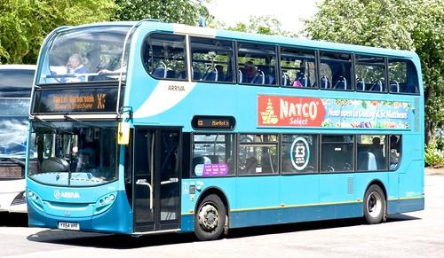 YX64 VPF 'Arriva Midlands' No. 4425. 'ADL' E40D / 'ADL' Enviro 400 on 'Dennis Basford's railsroadsrunways.blogspot.co.uk'