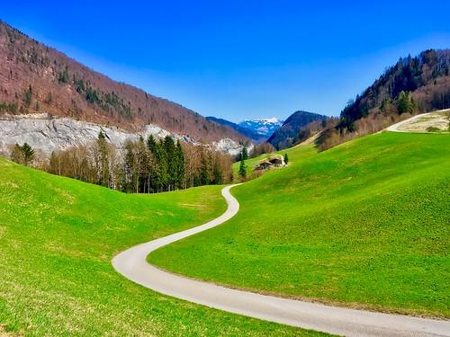 Hiking trail near Thiersee, Tyrol, Austria