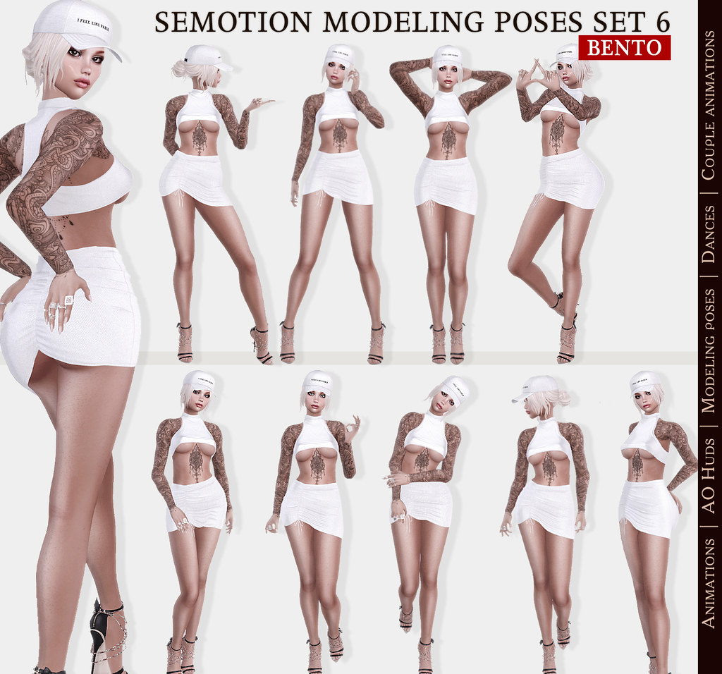 SEmotion Female Bento Modeling poses Set 6 – 10 static poses