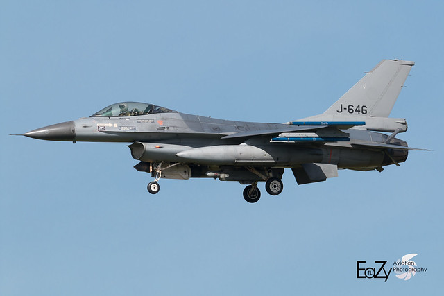 J-646 Royal Netherlands Air Force Fokker F-16AM Fighting Falcon