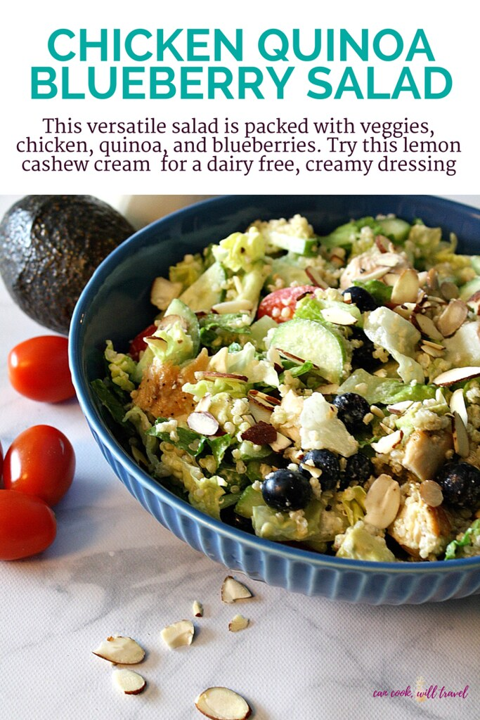 Chicken Quinoa Blueberry Salad