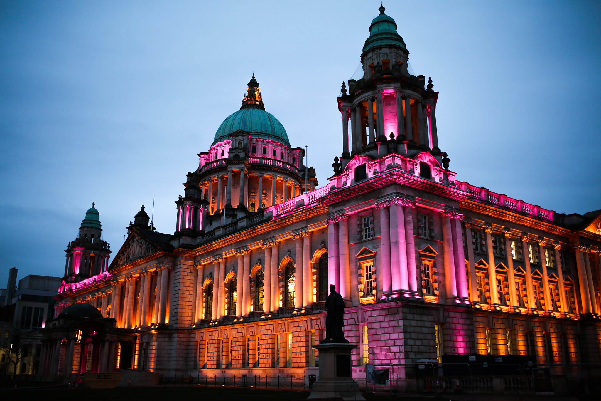 City Hall lit up for 2018 Sports Awards
