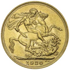 1920 Sydney Sovereign reverse