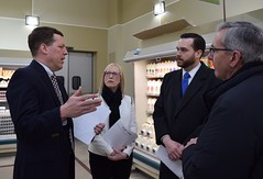 Rep.s Hall and Davis, are shown improvements to Geissler's Supermarket in East Windsor by CEO Jim Nilsson and Andrew Brydges from Eversource