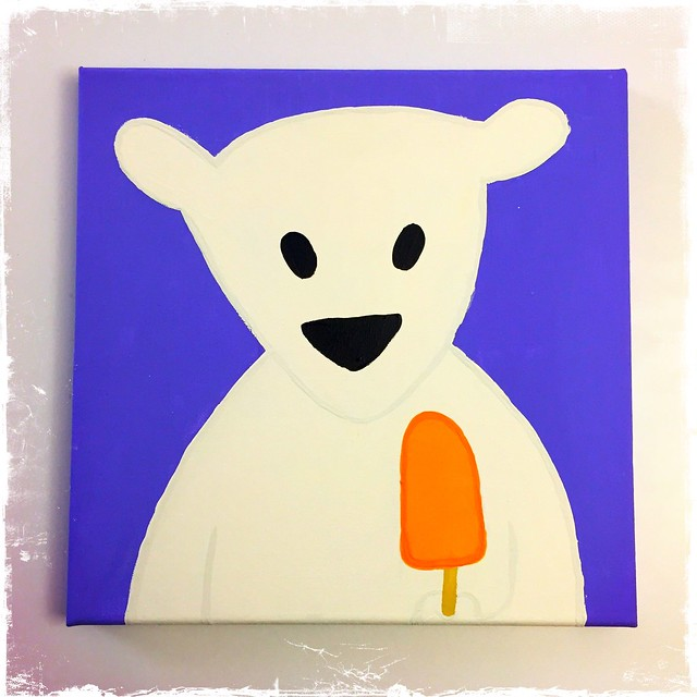 Summertime Polar Bear Painting