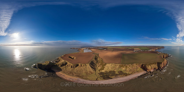 Auchmithie and Castlesea bay - Aerial Photosphere 09-04-2018a