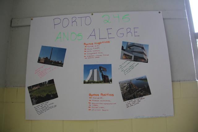 Exposição de fotos e poemas sobre Porto Alegre - Aula de Geografia - 1º EM - 2018