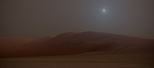 [Concept Art] Dust Storm over Endeavour Crater on Mars