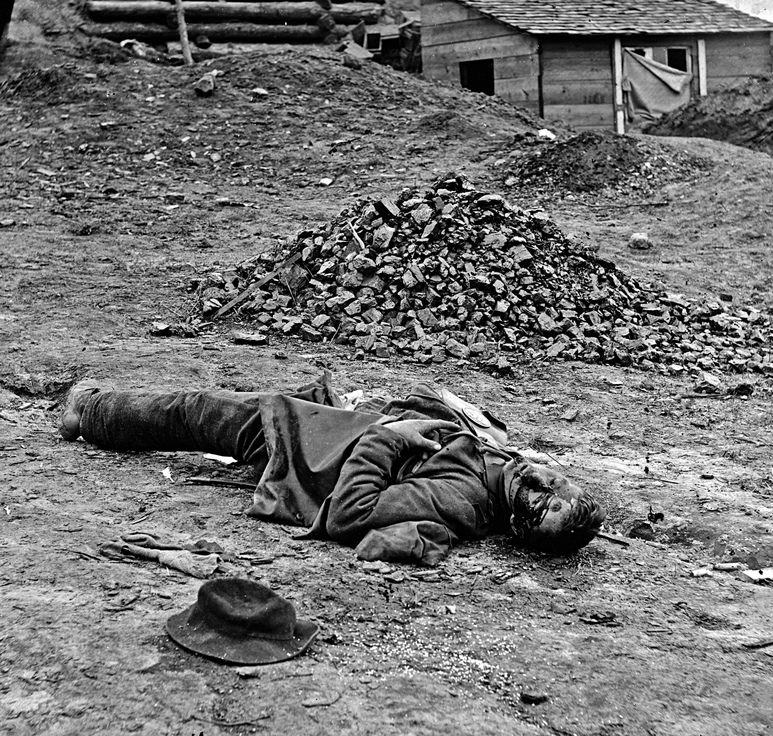 Dead soldier at Petersburg, Virginia, April 1, 1865.