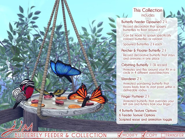 JIAN Butterfly Collection ( FaMESHed April )
