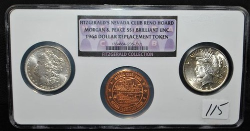 FITZGERALD'S NEVADA CLUB RENO HOARD coin set