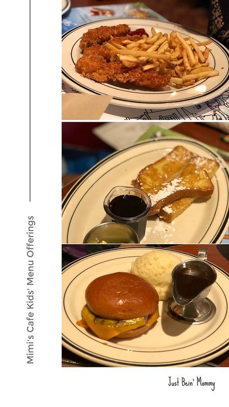Mimi's Cafe kids menu