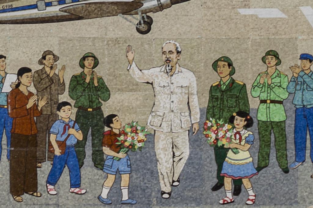 Ho Chi Minh mural--Vinh (detail)