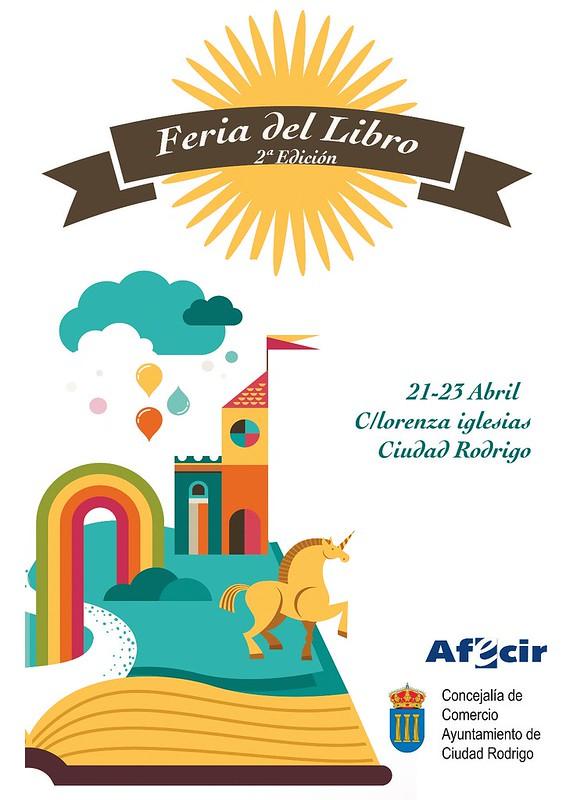 Imagen del cartel de la II Feria del Libro de Ciudad Rodrigo.