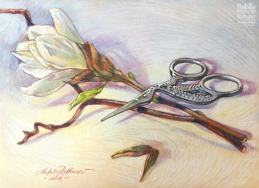 Still life with scissors