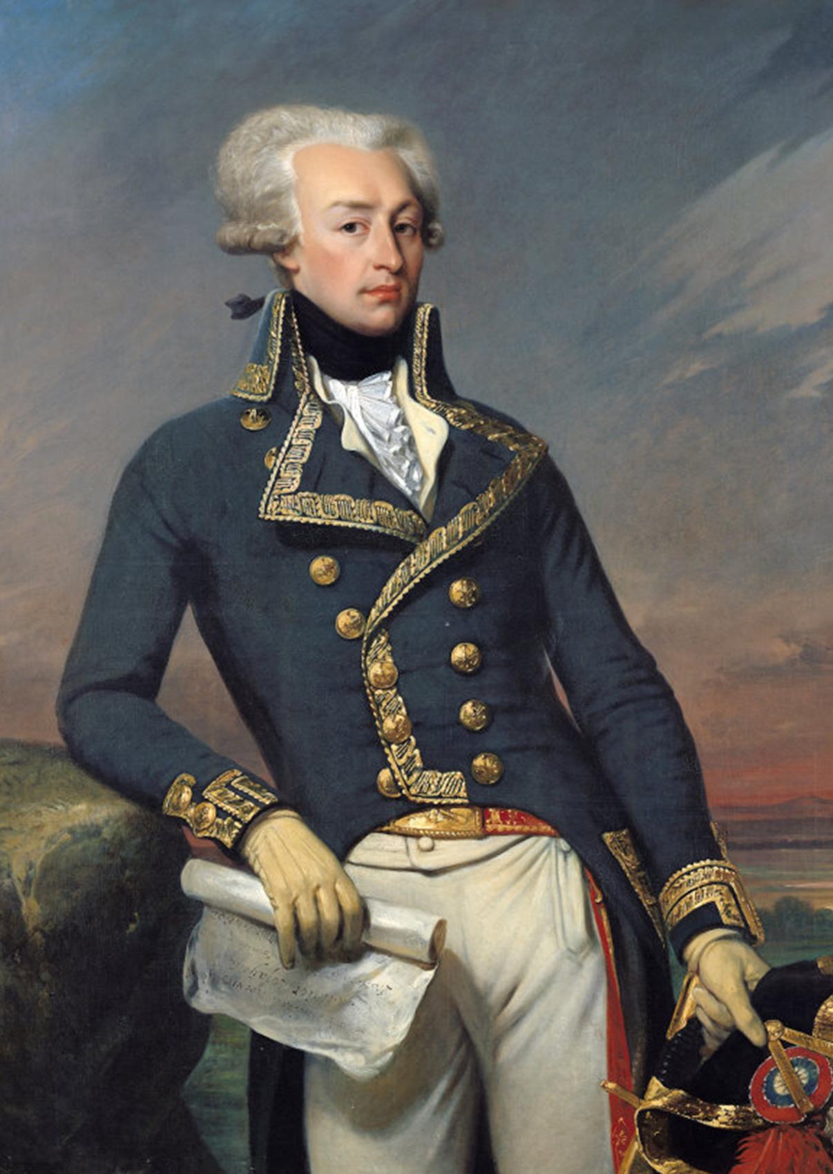 Portrait of Gilbert Motier the Marquis De La Fayette as a Lieutenant General, 1791. Portrait by Joseph-Désiré Court.