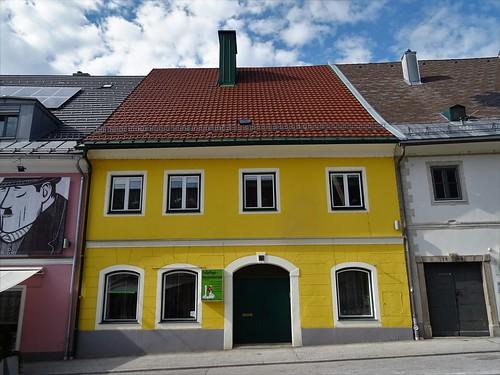 Pliberk/Bleiburg, Carinthia, state of Austria (the art of public places of Bleiburg), 10. Oktober Platz