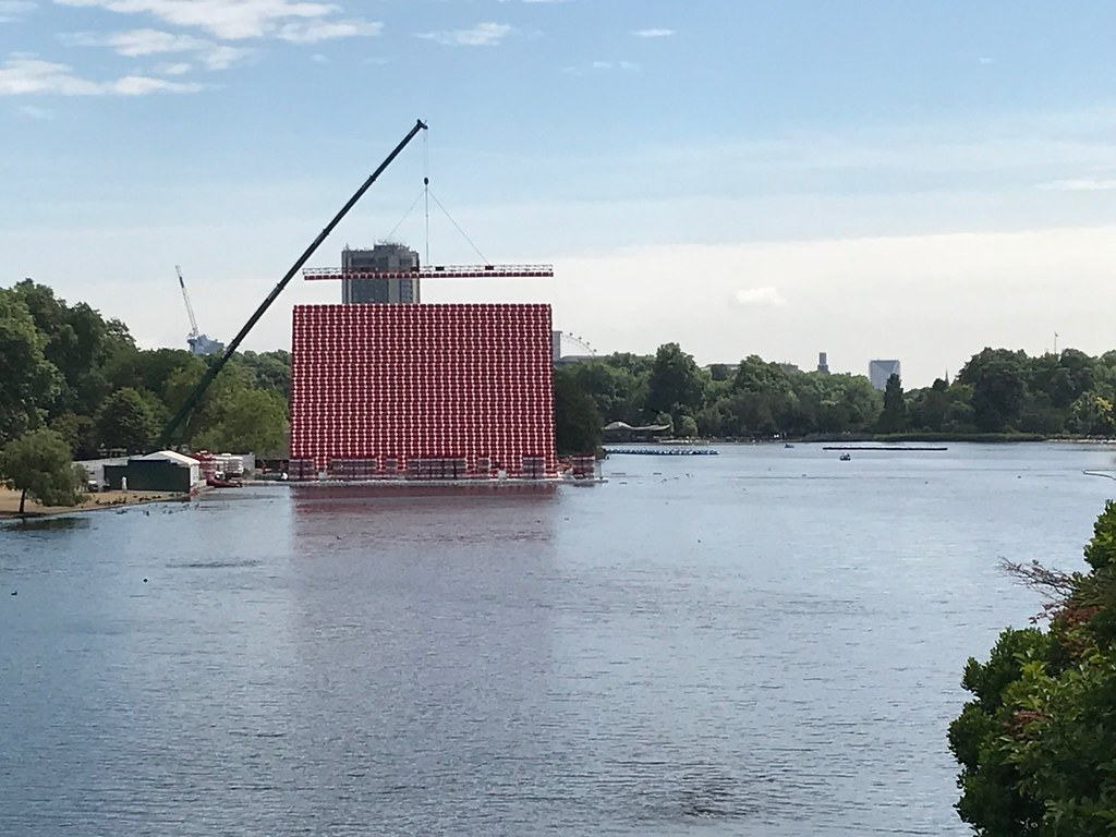 Christo sculpture in the Serpentine
