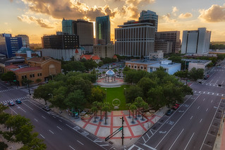 Joe Chillura Courthouse Square Sunset Horizontal