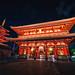 Sensoji is an ancient Buddhist temple at night in Asakusa, Tokyo, Japan. by Nuttawut Uttamaharad