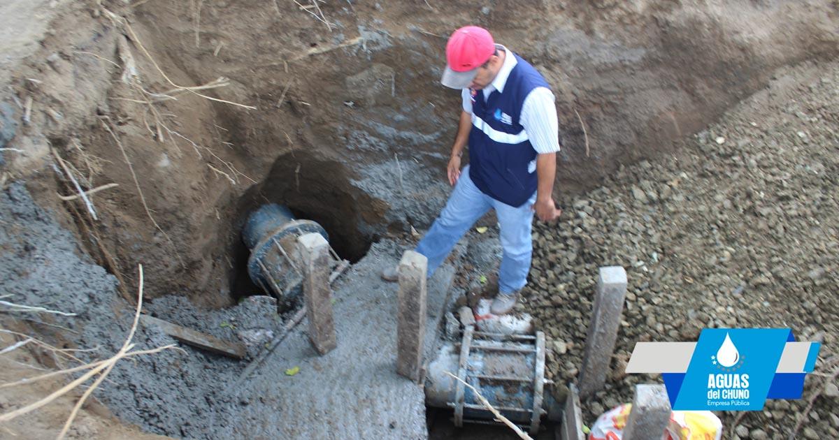 Aguas del Chuno restauró servicio de agua potable