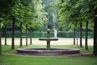 Schalenfontäne im Dichterhain am Park Charlottenhof