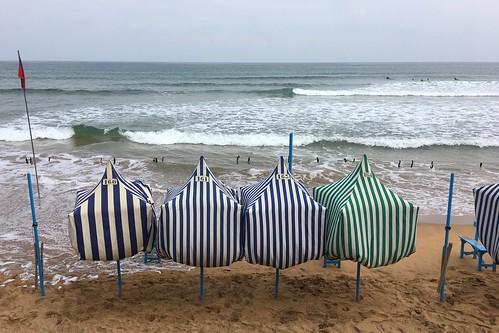 Dia de mucha bruma en la playa de Zarautz