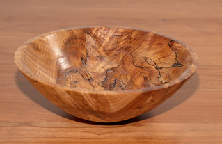 Figured,spalted maple, Tru oil, 9 x 3, #142