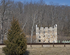 View of the Beverley Mill Ruins Across I-66 at Thoroughfare gap (VA) March 2018