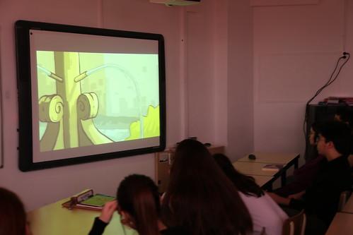 Taller a l'Escola Isabel de Villena d'Esplugues de Llobregat
