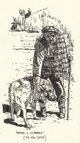 Pastor y su perro