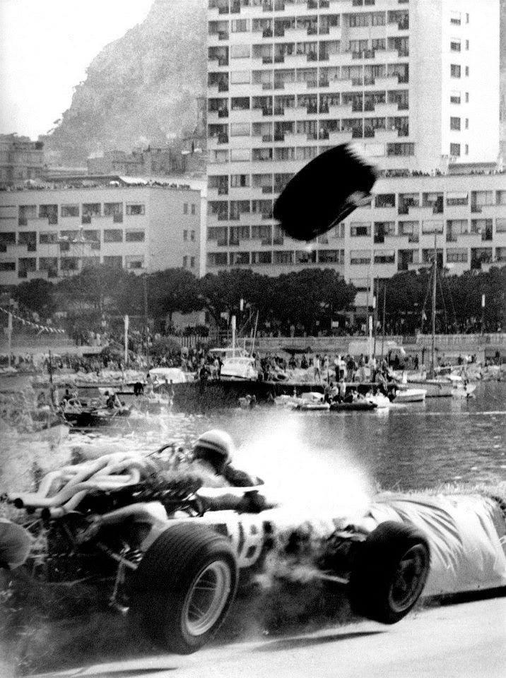 Lorenzo Bandini's fatal accident at the Monaco Grand Prix - May 7, 1967