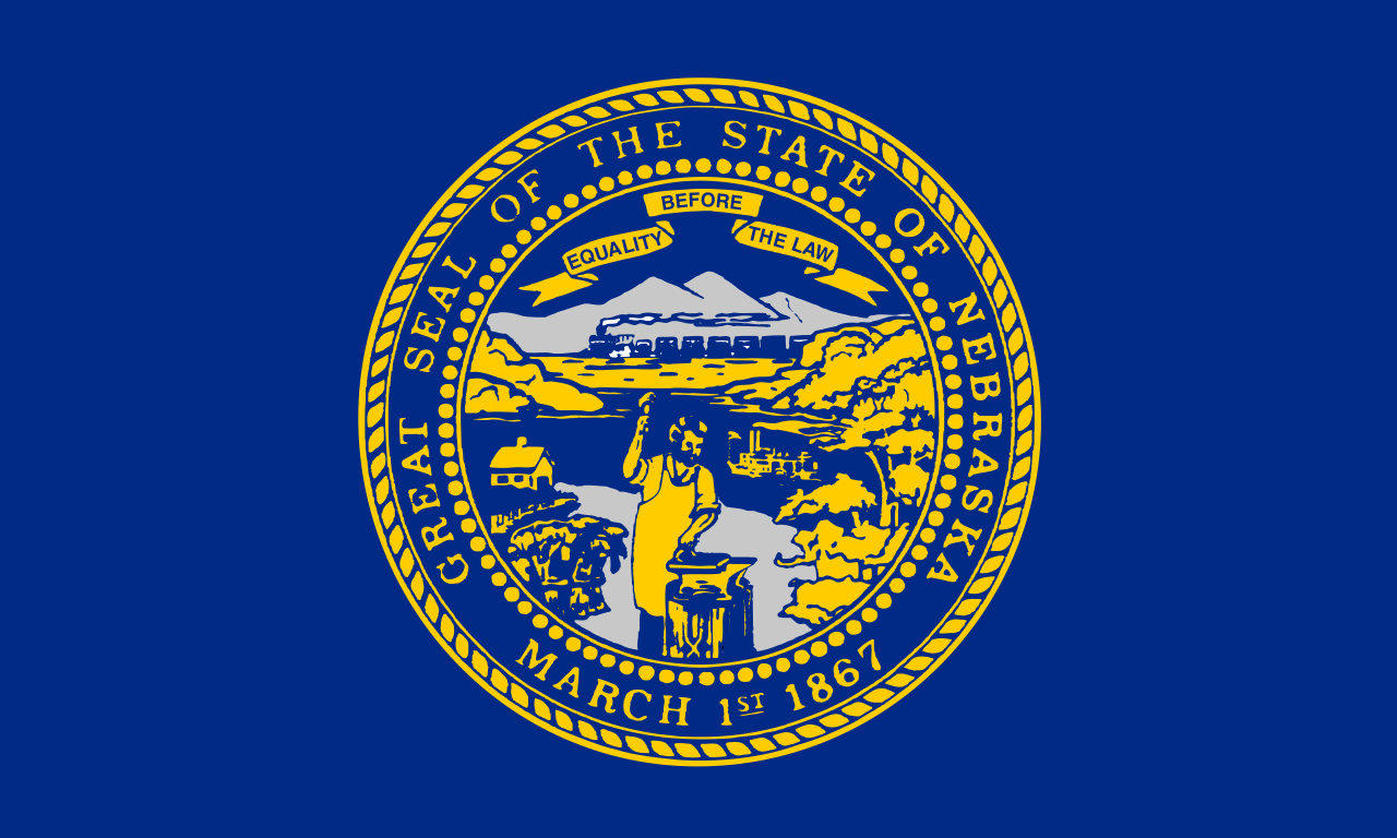 Nebraska State Flag, adopted on July 16, 1963