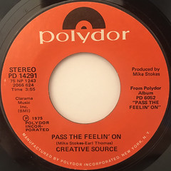 CREATIVE SOURCE:PASS THE FEELIN' ON(LABEL SIDE-A)