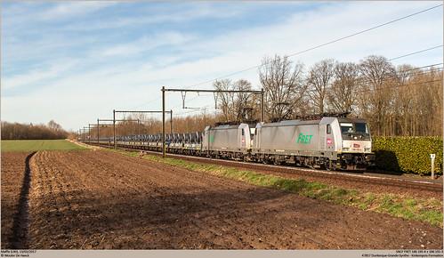 SNCF FRET 186 195-4 + 186 191-3 @ Maffle