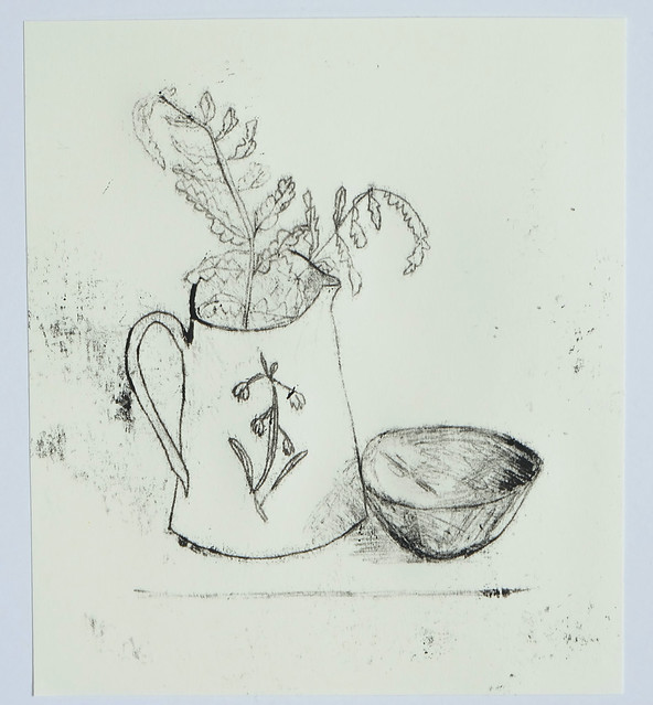 fern leaves in a jug with bowl