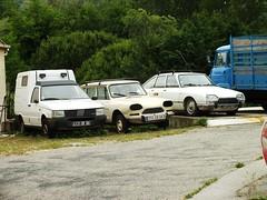 Citroën Ami 8 Break + Citroën GS Berline + Fiat Fiorino Vinça (66 Pyrénées Orientales) 15-06-13a