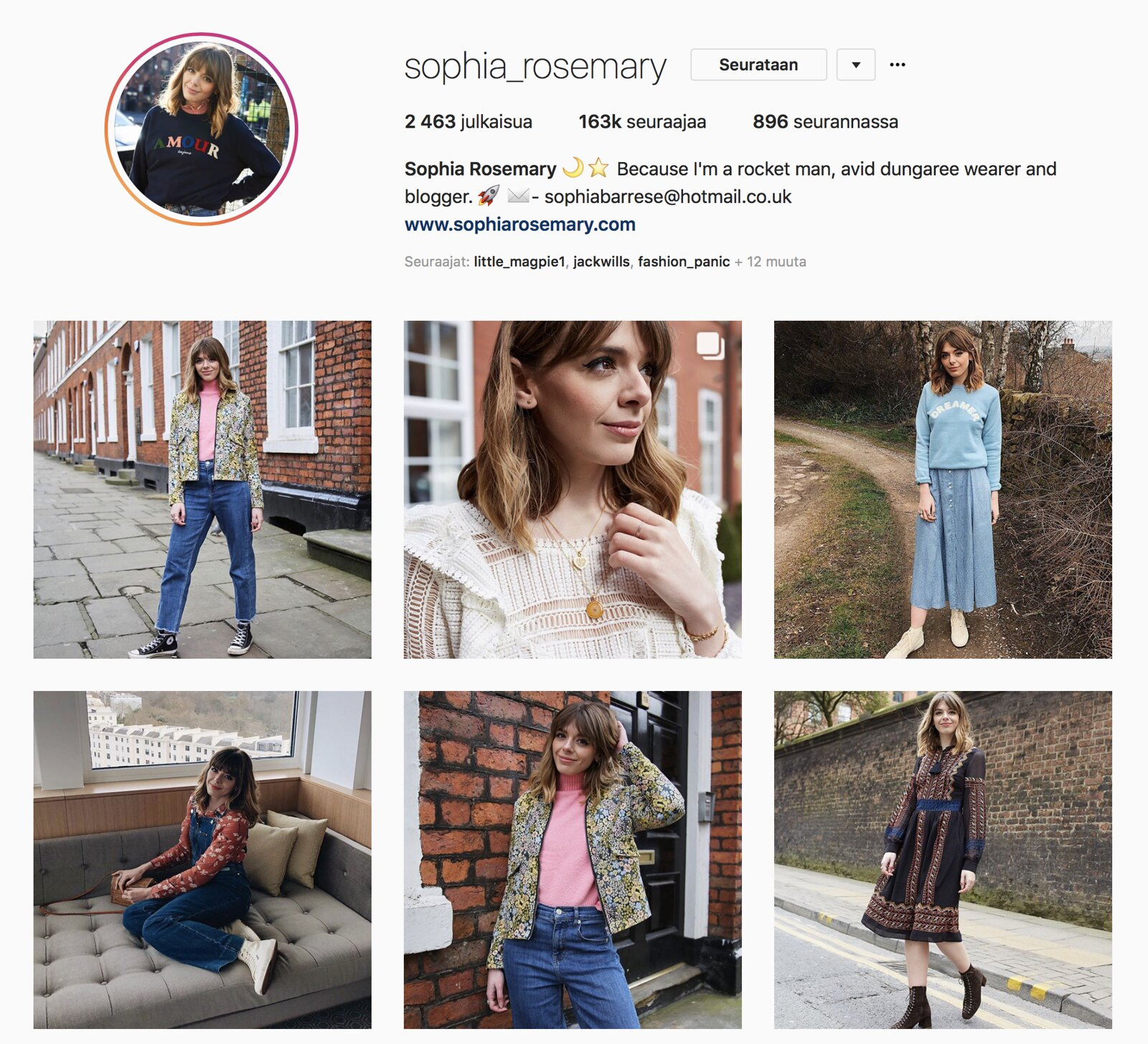 Inspiroivimmat Instagramit Sophia Rosemary