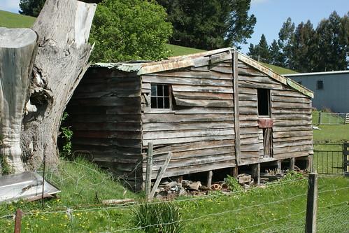 Old barn on Tuapeka West Rd., W of Lawrence, Otago
