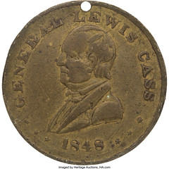1848 Lewis Cass Campaign Token obverse