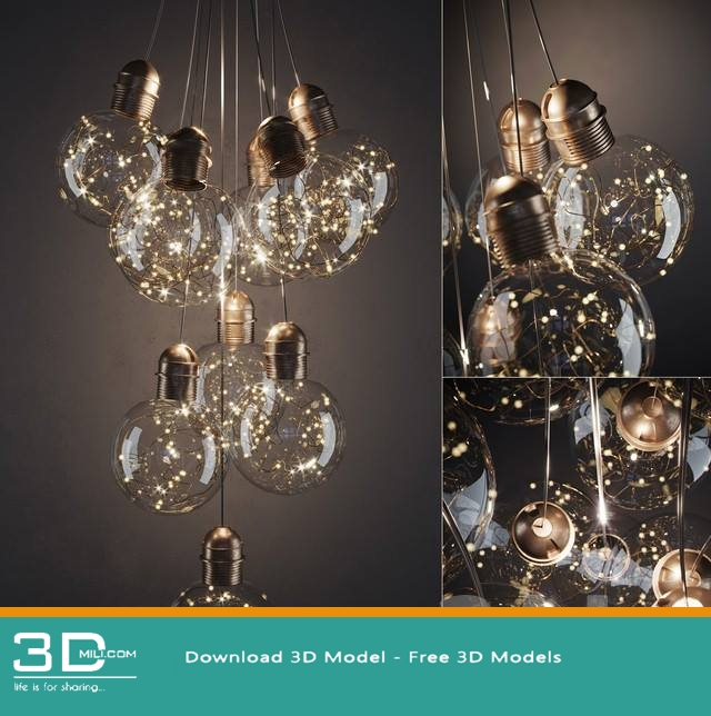 342. Ceiling light 3D model Free Download - 3D Mili - Download 3D ...